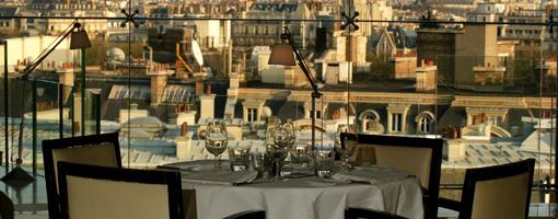 Restaurant saint valentin avec belle vue sur paris les
